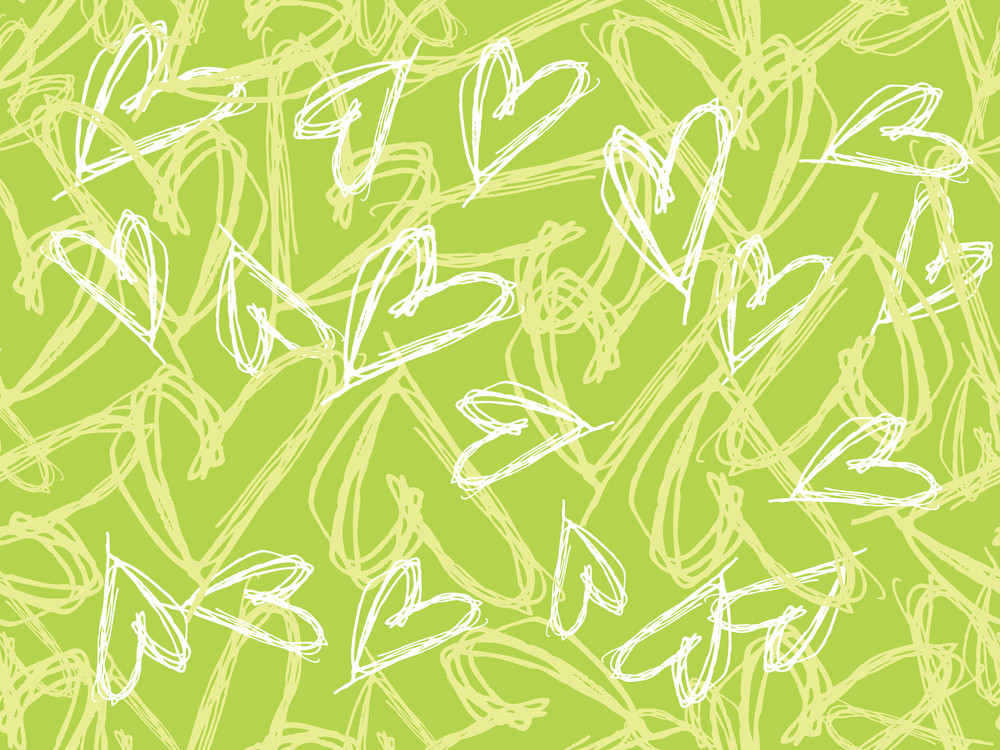 Background With Handdrawn Heart Shape