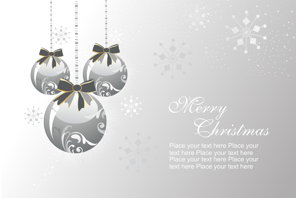 Background With Hanging Decorated Ball