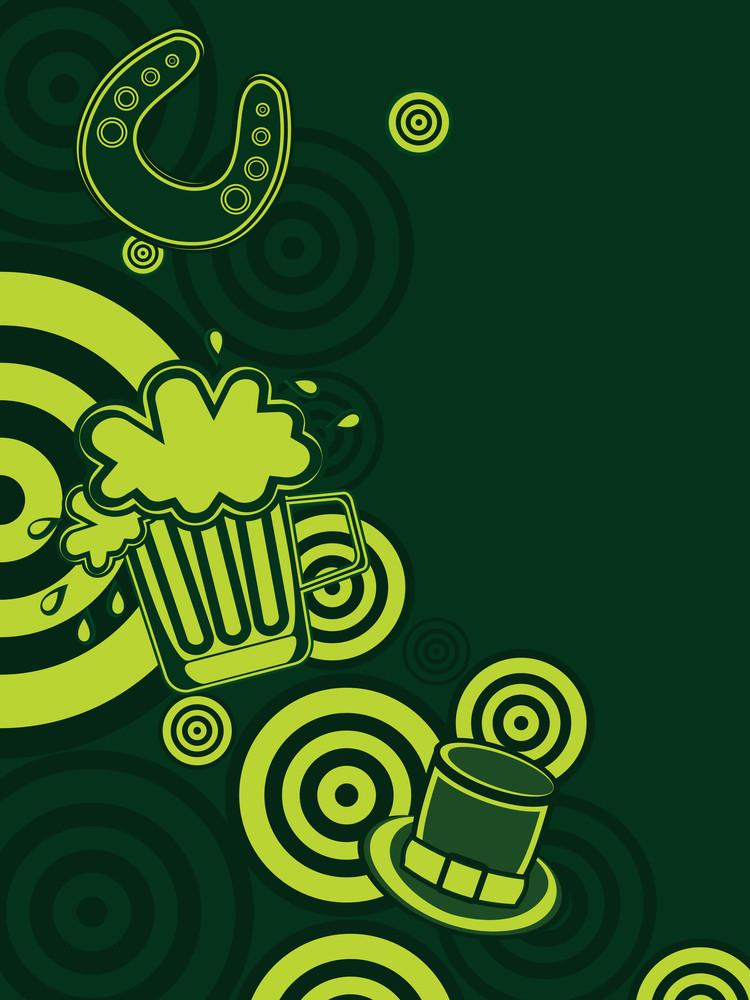 Background With Happy St. Patrick's Day Element