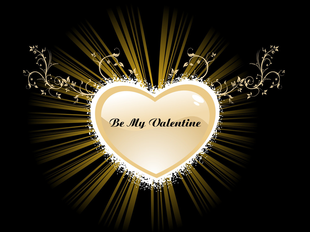 Background With Heart Shape Frame