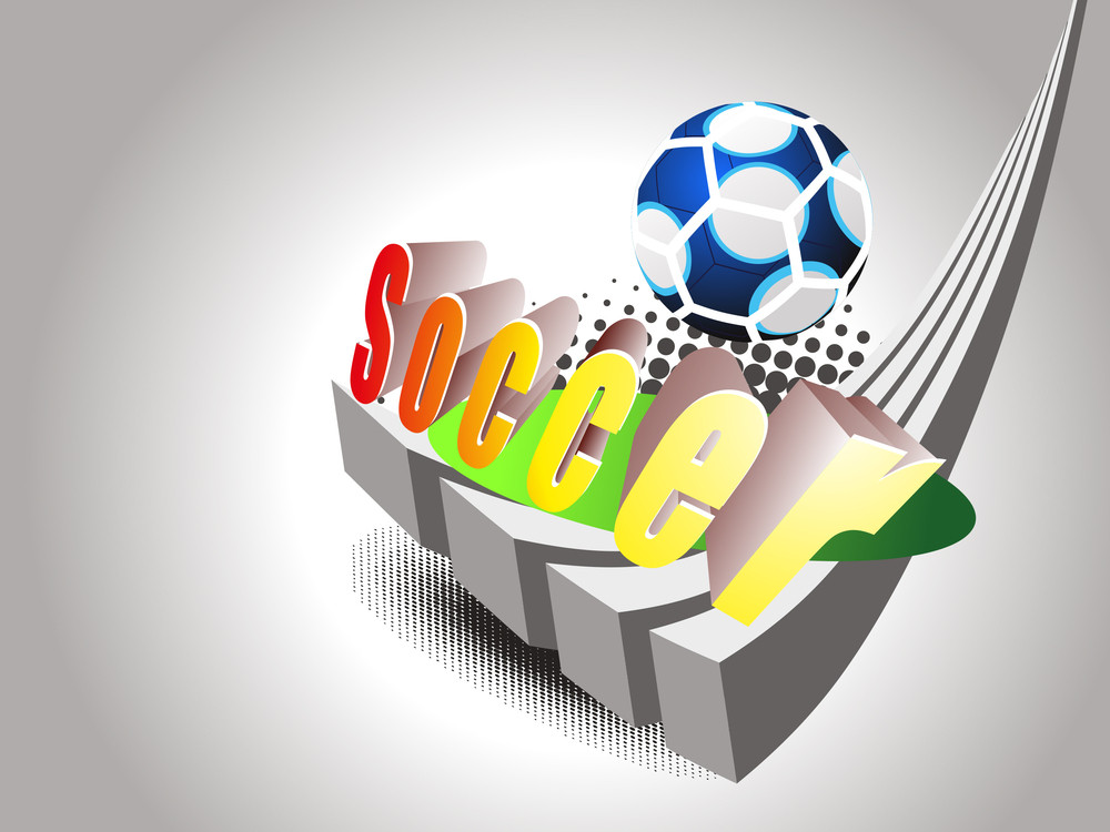 Background With Isolated Blue Soccer