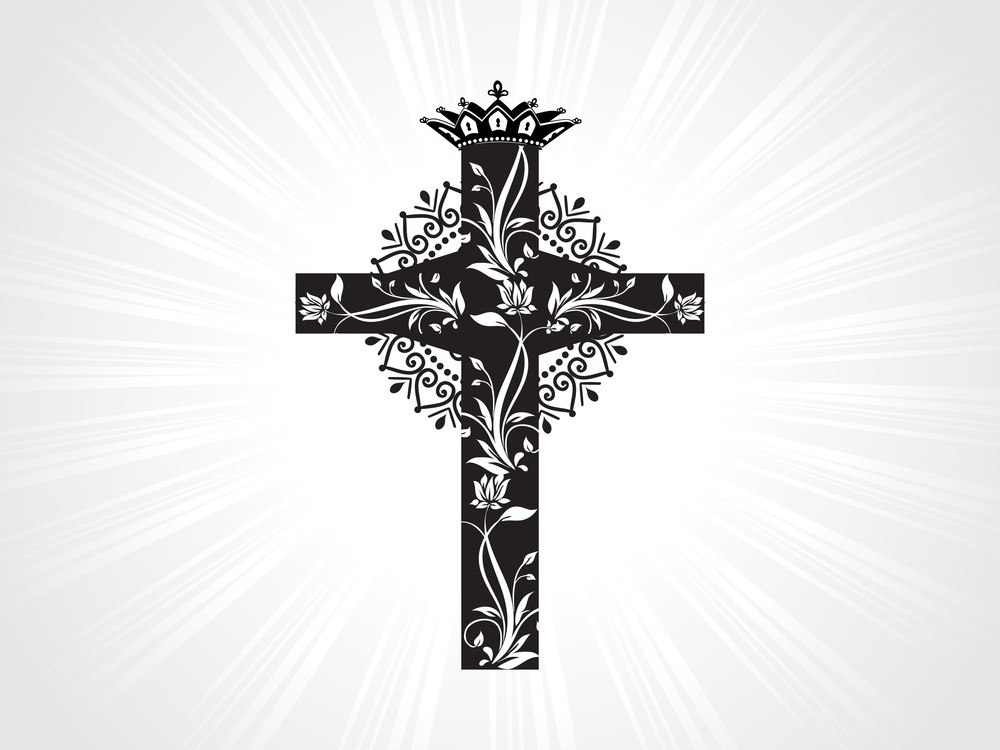 Background With Isolated Christian Cross