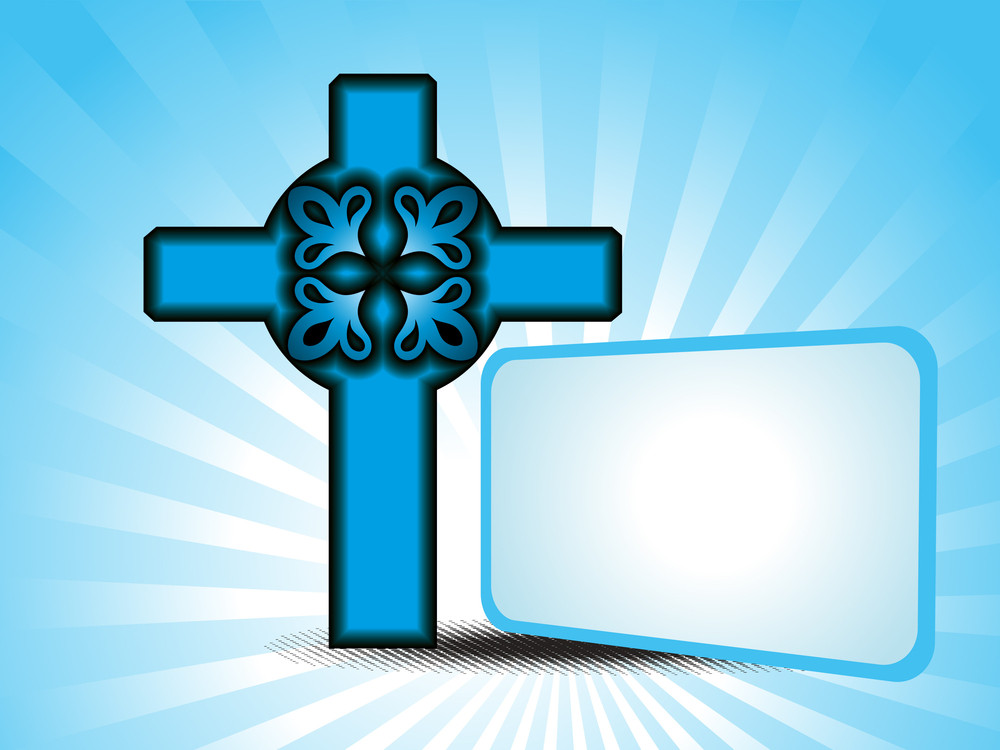 Background With Isolated Cross