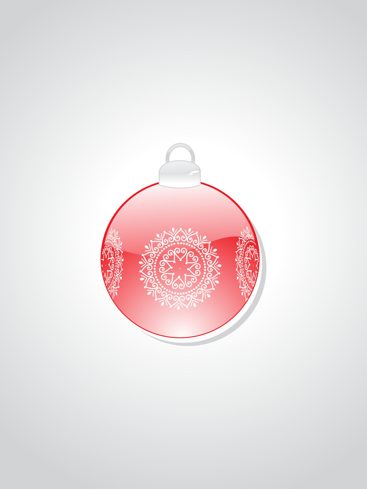 Background With Isolated Decorated Ball