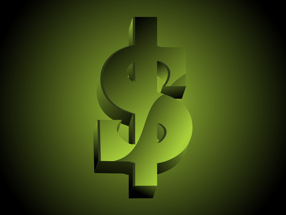 Background With Isolated Dollar Currency