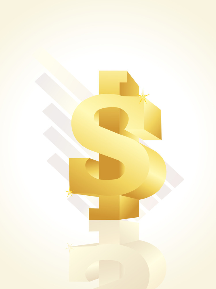 Background With Isolated Dollar Symbol