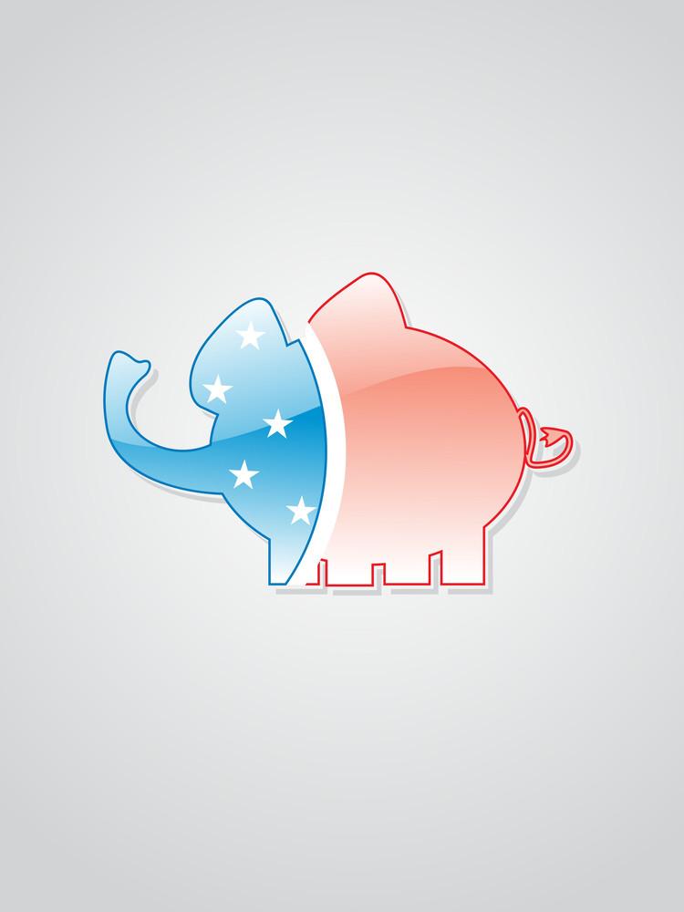 Background With Isolated Elephant