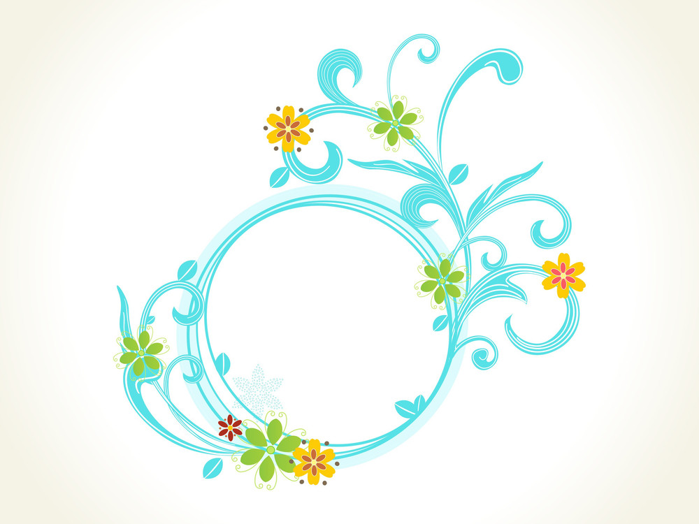 Background With Isolated Floral Frame