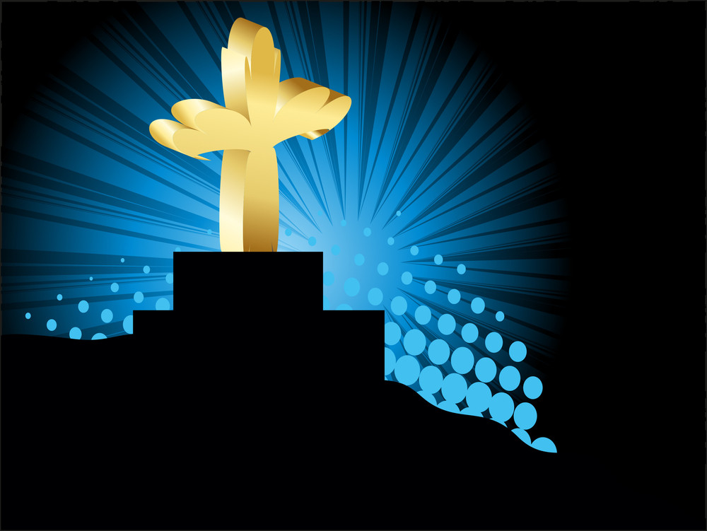 Background With Isolated Golden Cross