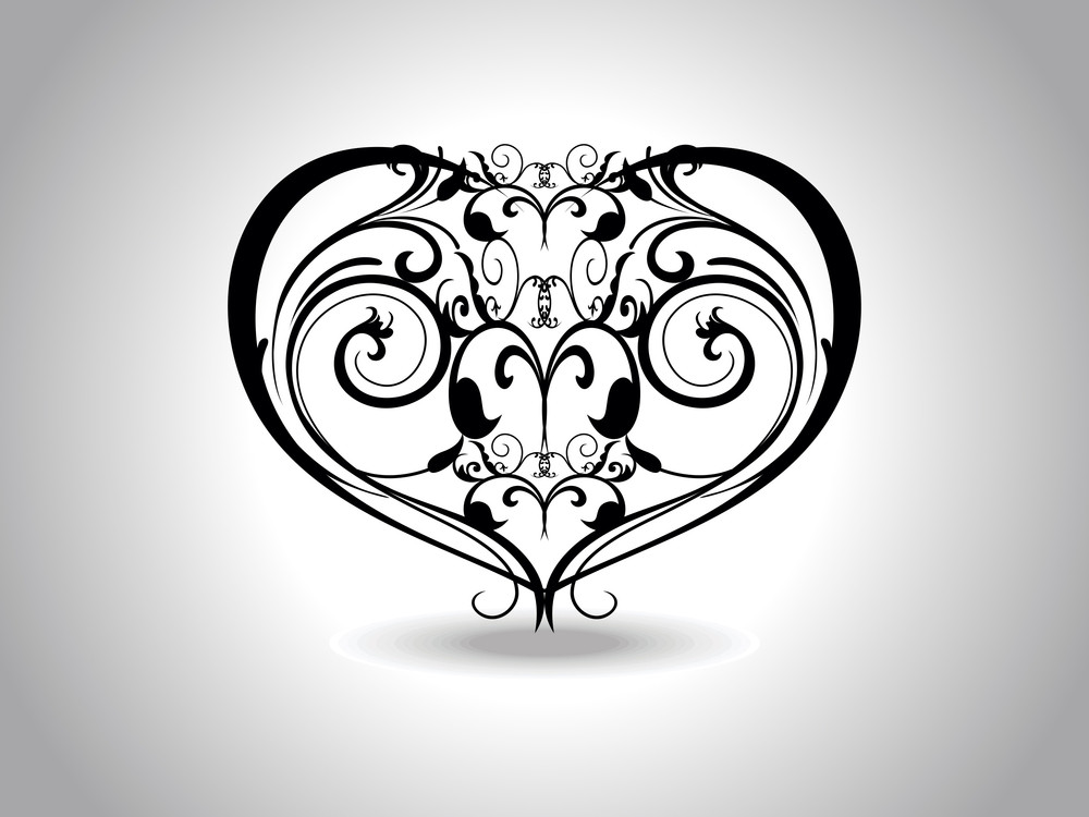 Background With Isolated Heart Tattoo