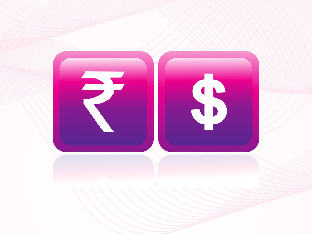 Background With Isolated Indian Rupee