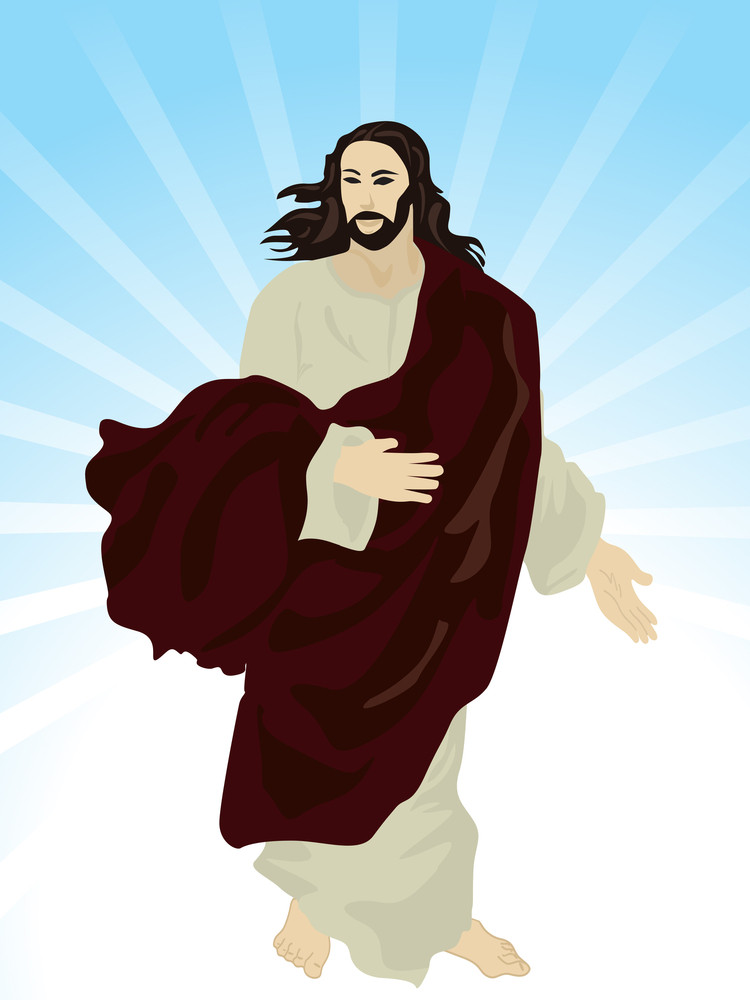 Background With Isolated Jesus