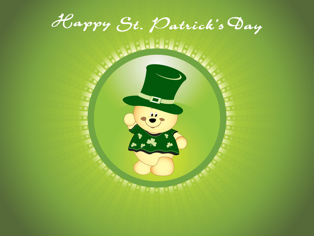 Background With Isolated Leprechaun