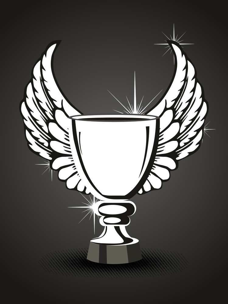 Background With Isolated Ornate Trophy