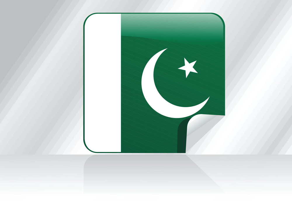 Background With Isolated Pakistan Flag