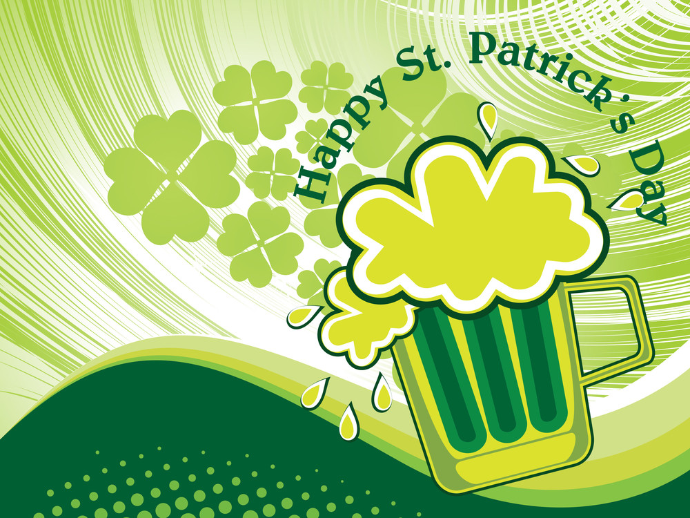 Background With Isolated Patrick Day Beer Mug