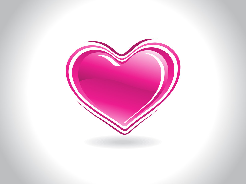Background With Isolated Pink Heart