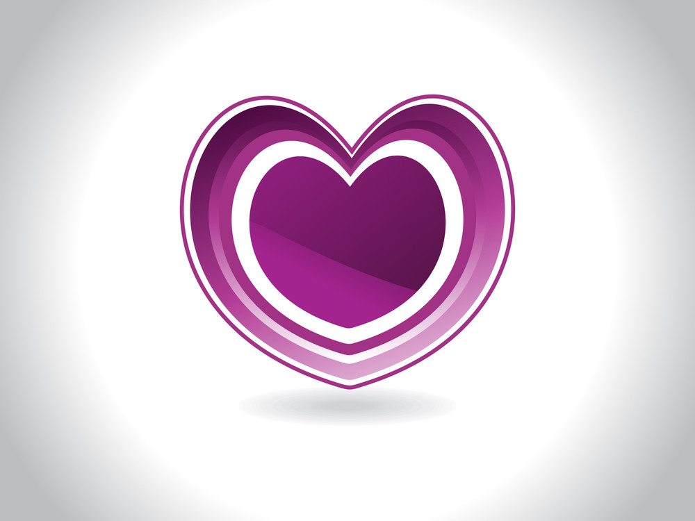 Background With Isolated Purple Heart