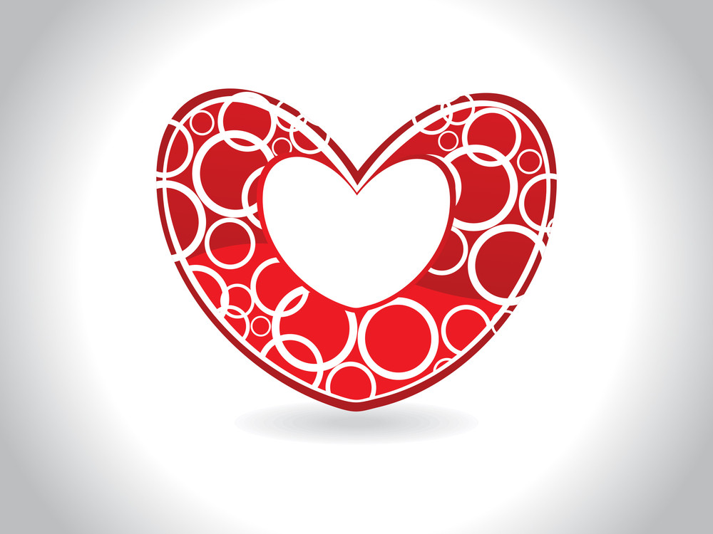 Background With Isolated Red Heart