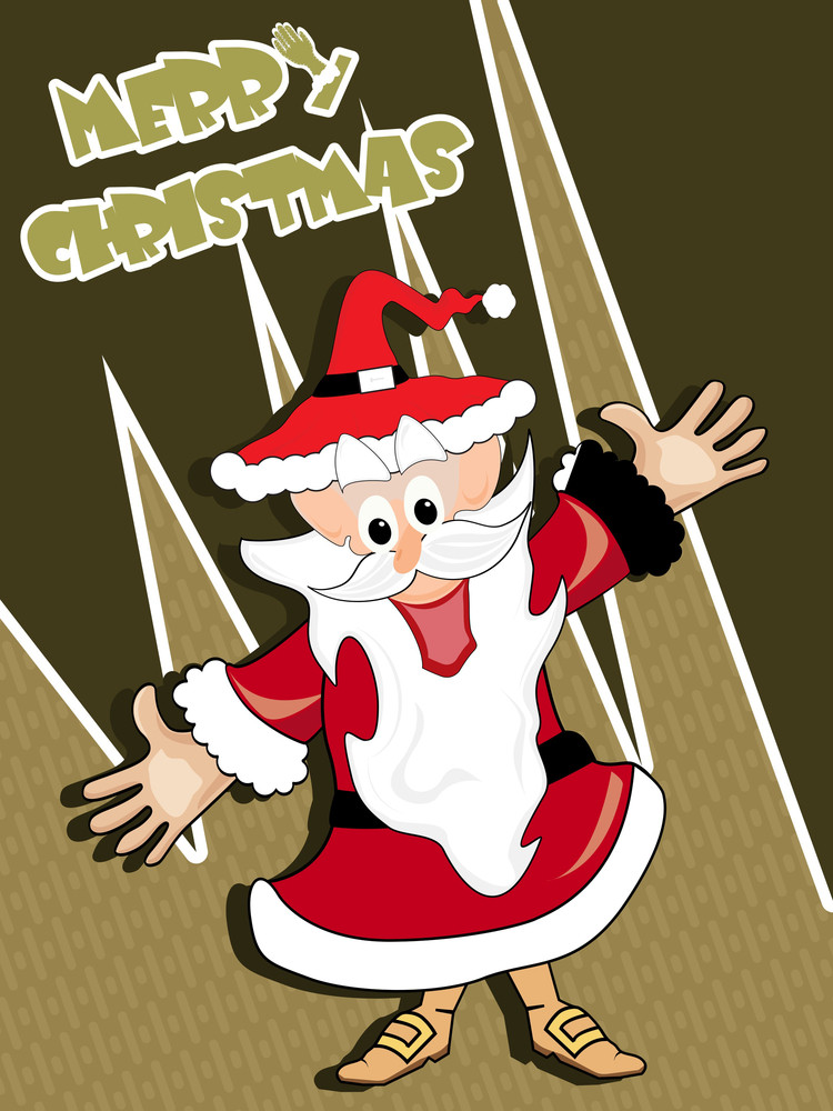 Background With Isolated Santa Claus