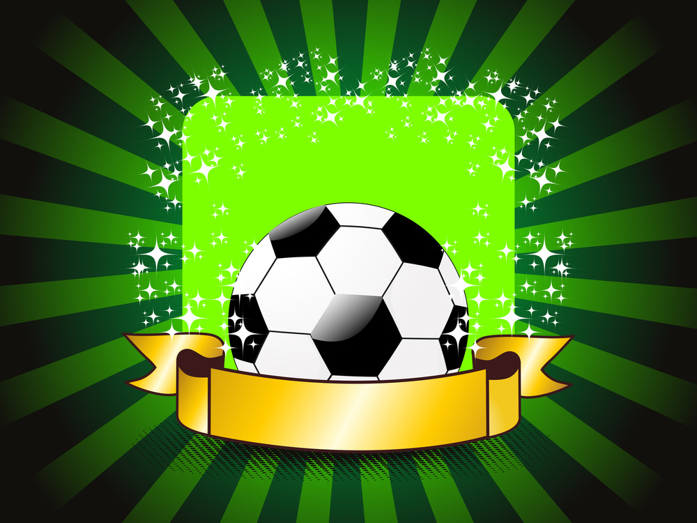 Background With Isolated Soccer