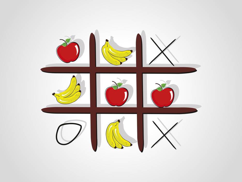 Background With Isolated Tic Tac Toe Game