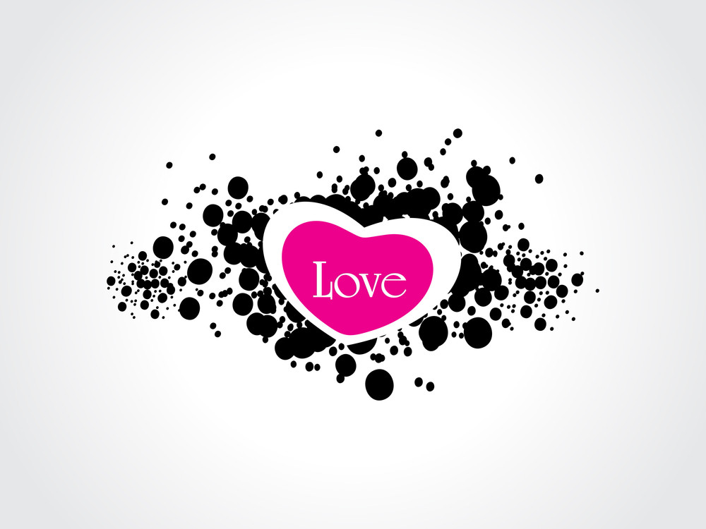Background With Isolated Valentine Heart