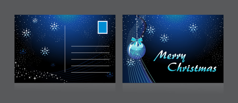 Background With Isolated Xmas Day Postcard