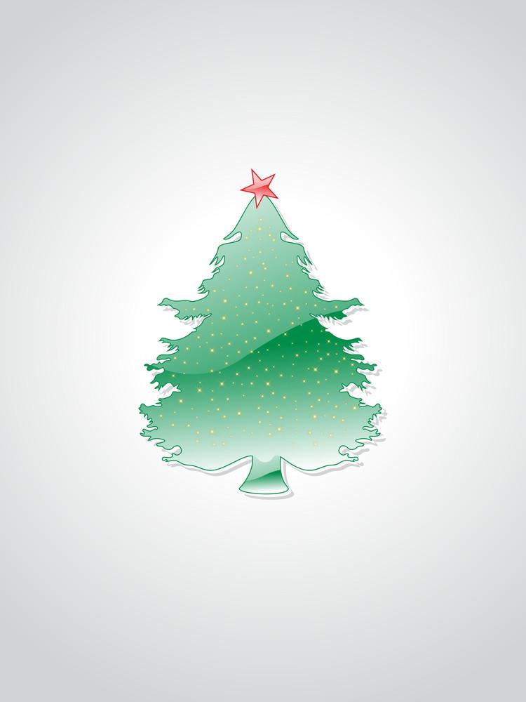 Background With Isolated Xmas Tree