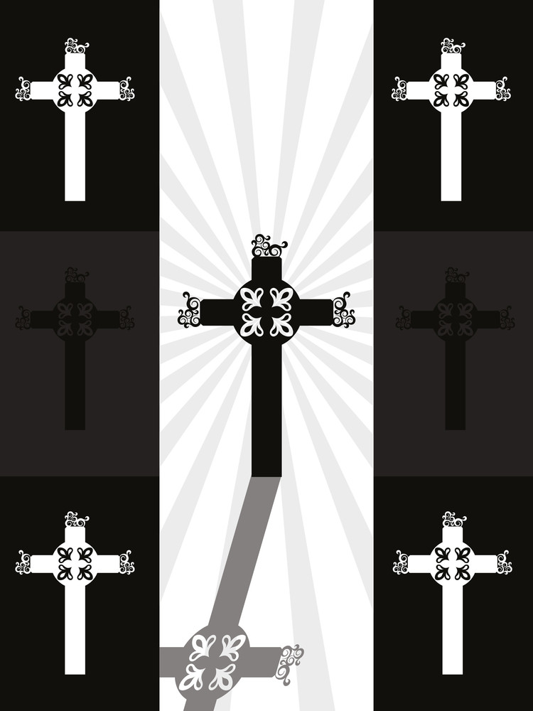Background With Jesus Cross