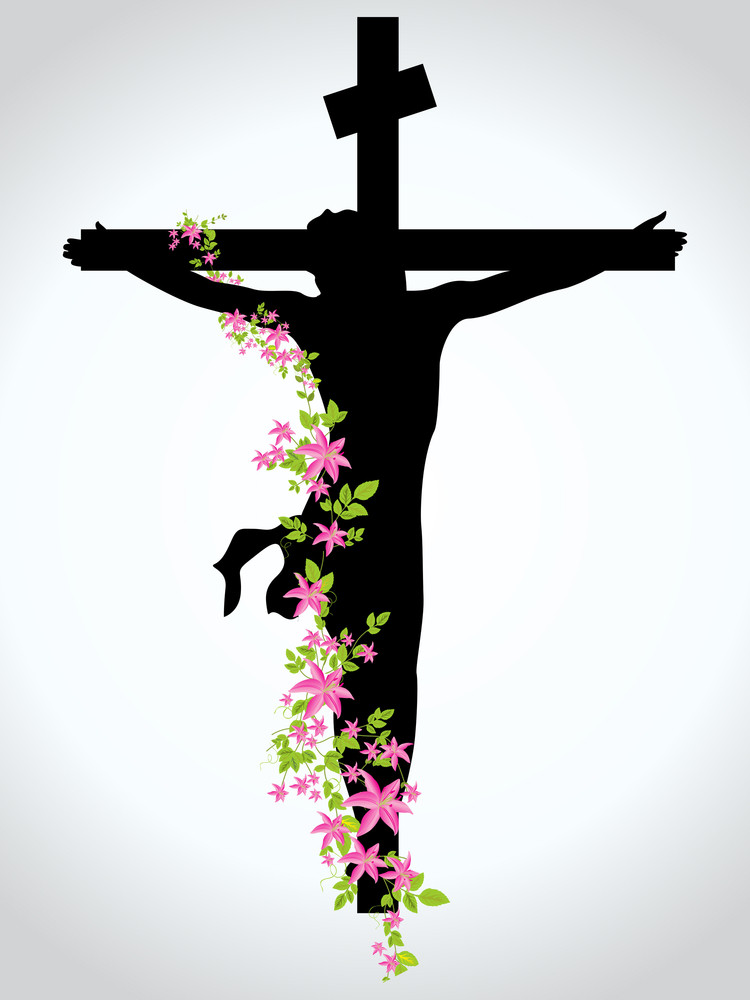 Background With Jesus In Cross
