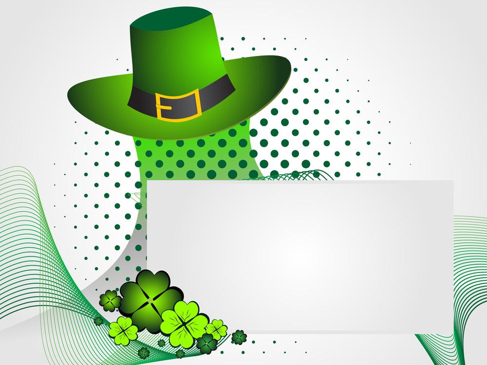 Background With Leprechaun Hat