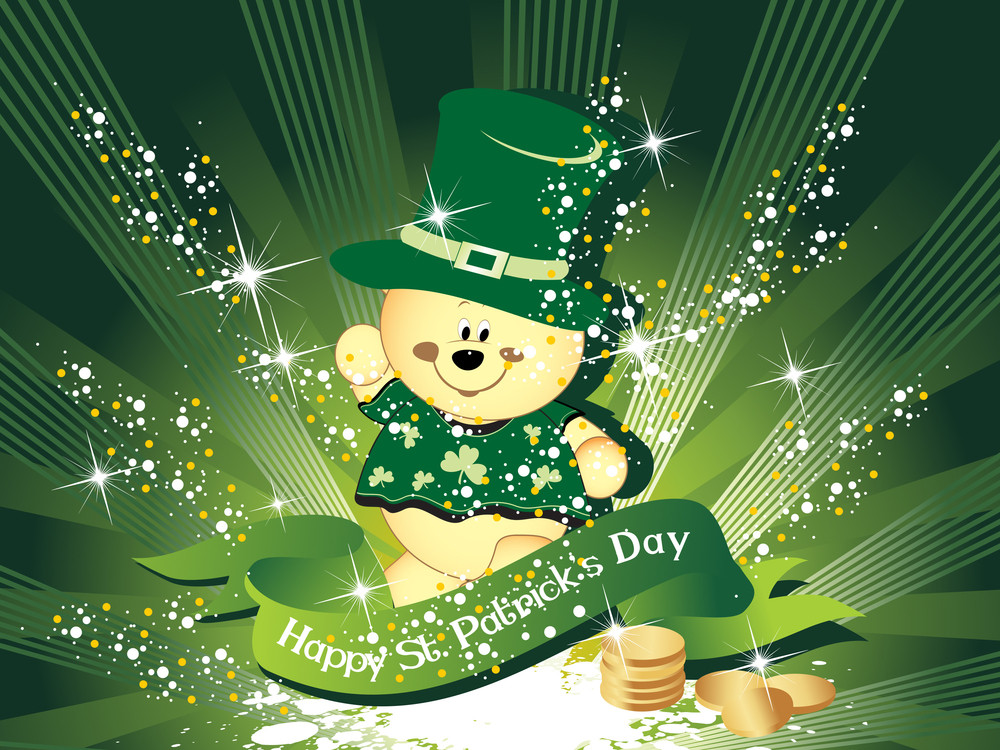 Background With Leprechaun