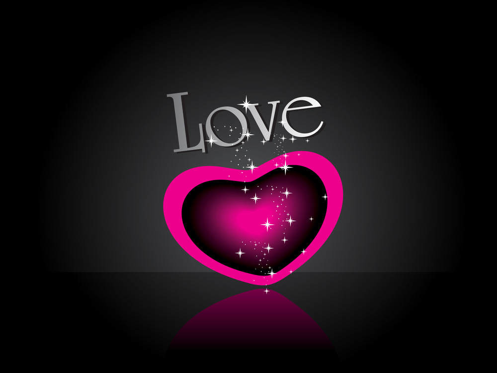 Background With Magenta Twinkle Star Heart