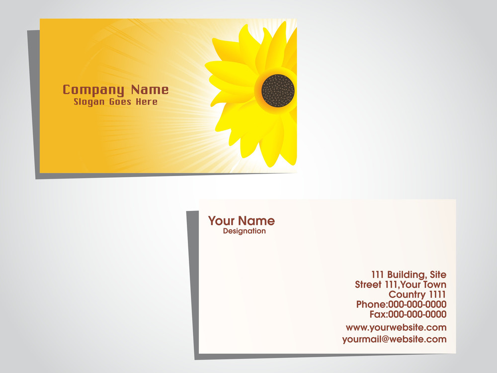 Background With Natural Background Business Card