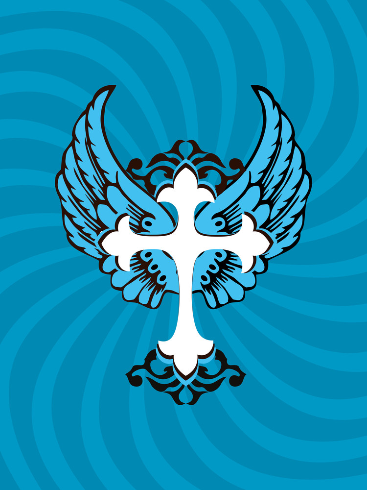 Background With Ornamental Cross