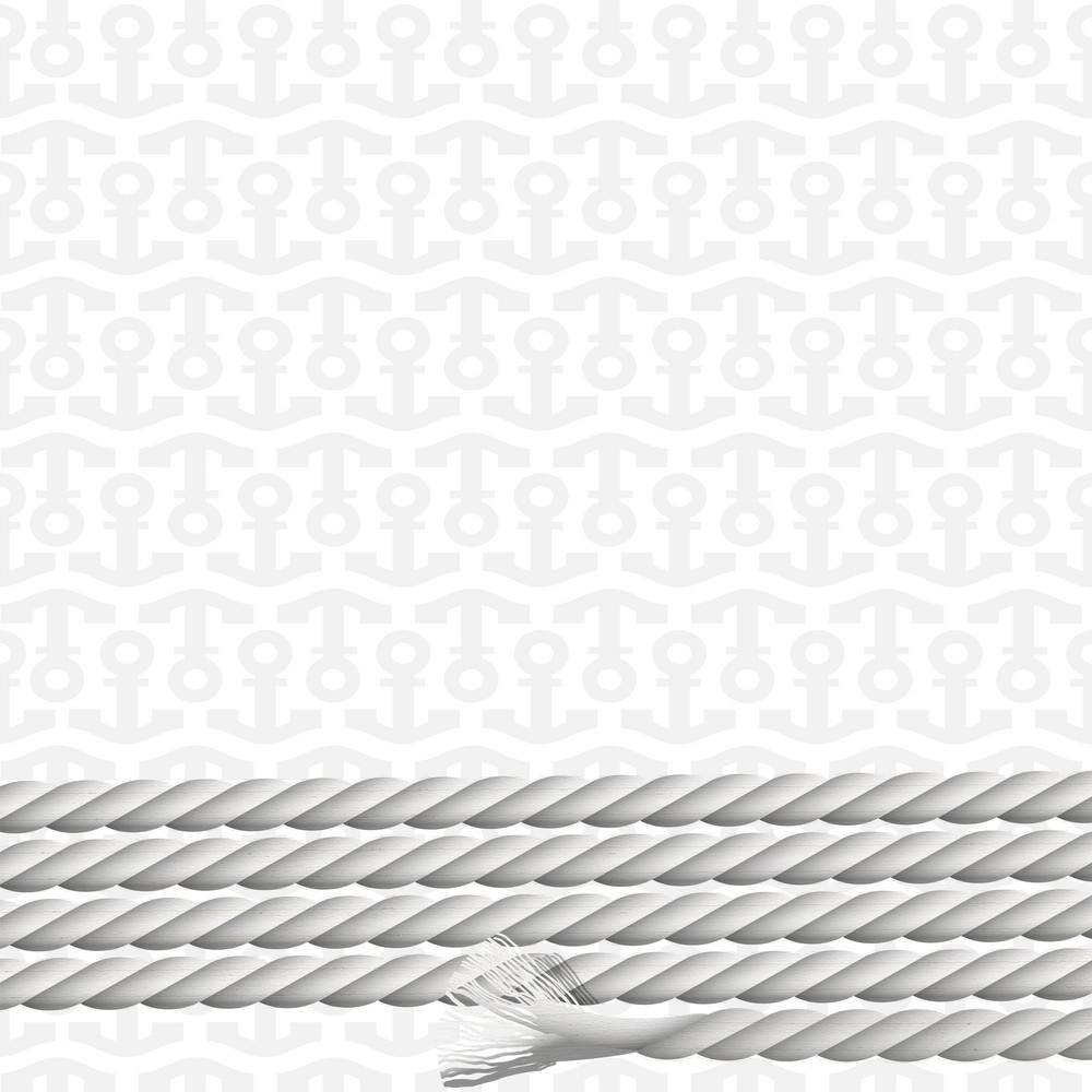 Background With Pattern Of Anchors And Marine Rope