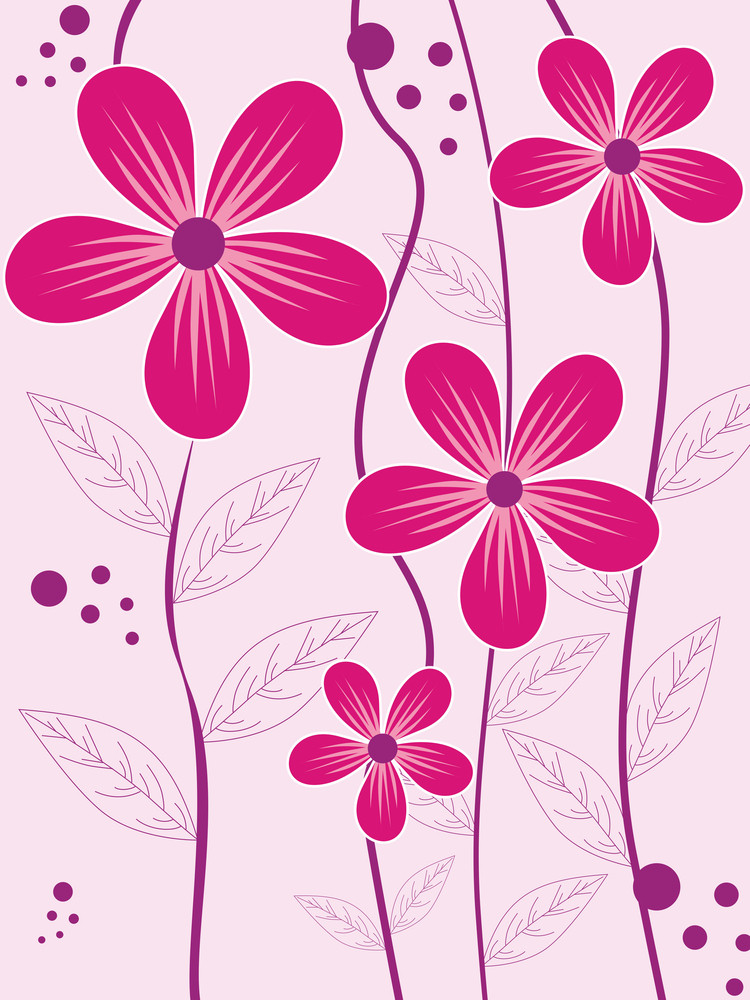 Background With Pink Flower
