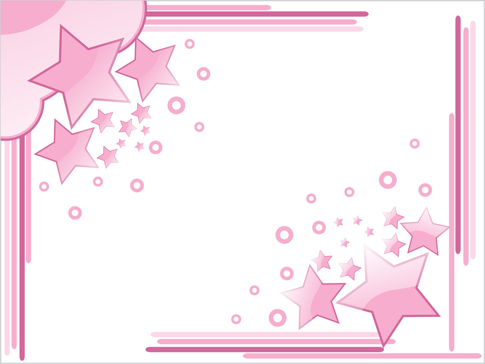 Background With Pink Star