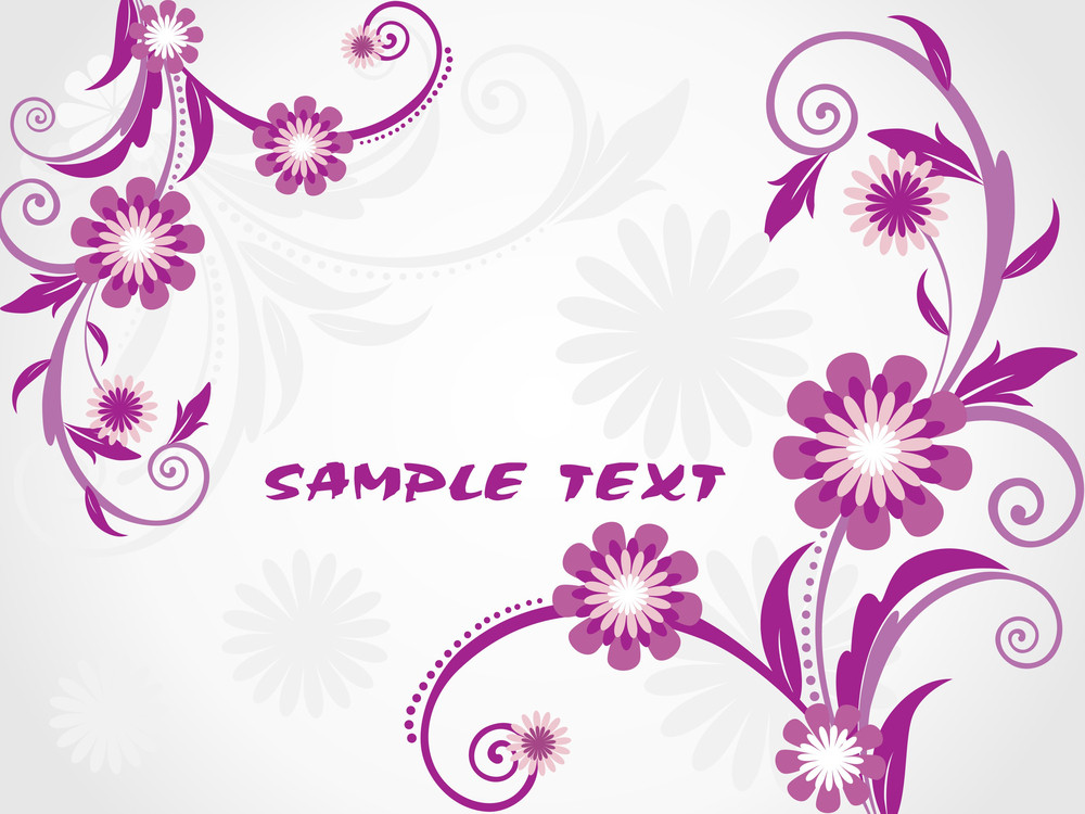 Background With Purple Floral