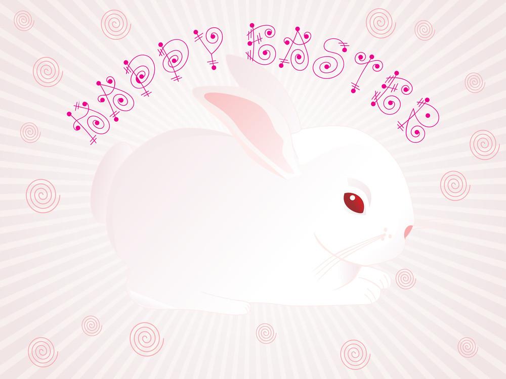 Background With Rabbit Illustration