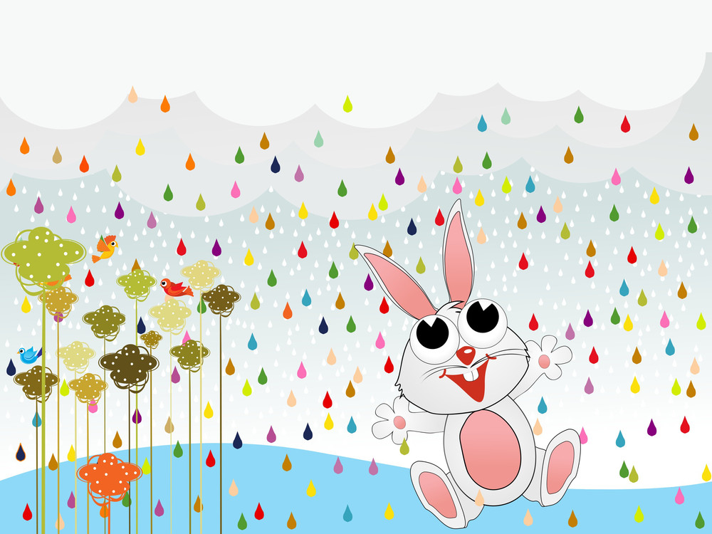 Background With Rabbit