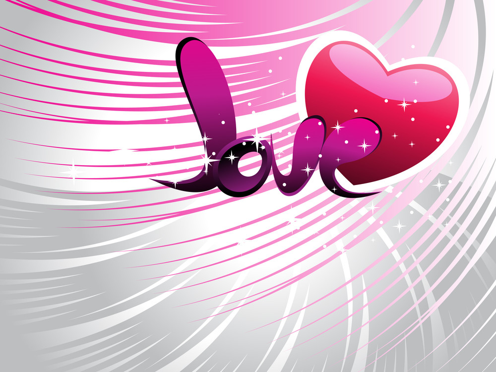 Background With Romantic Heart
