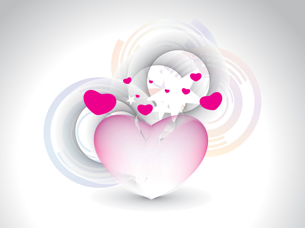 Background With Romantic Pink Hearts