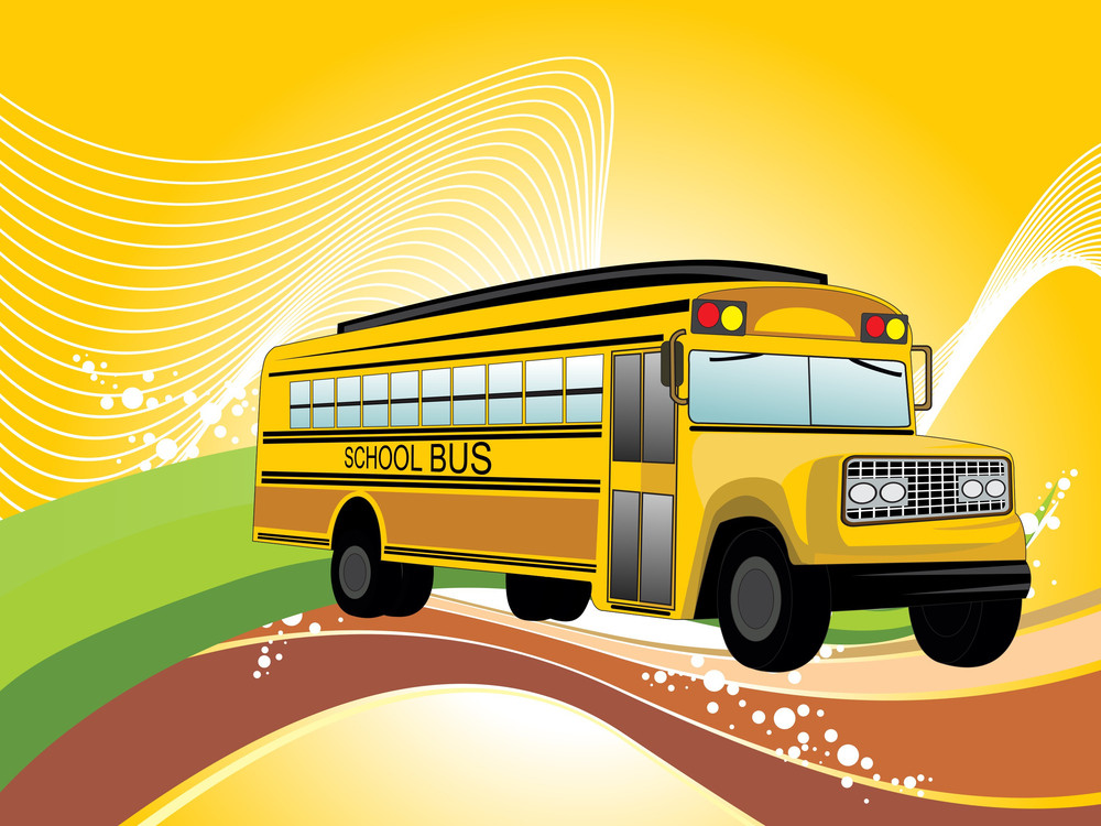 Background With School Bus