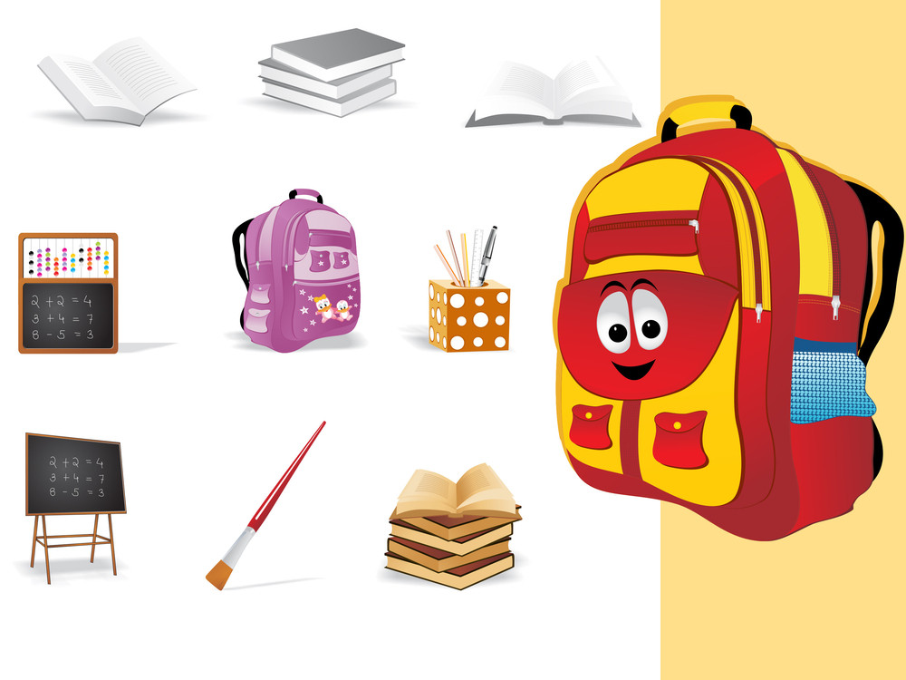 Background With School Object