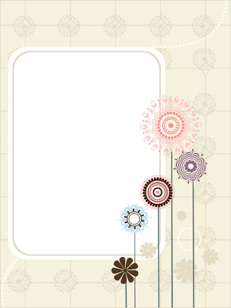 Background With Seamless Flower