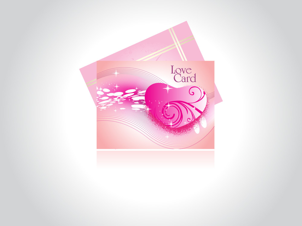 Background With Set Of Love Card