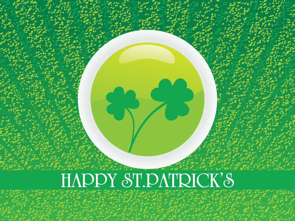 Background With Shamrock Pattern 17 March