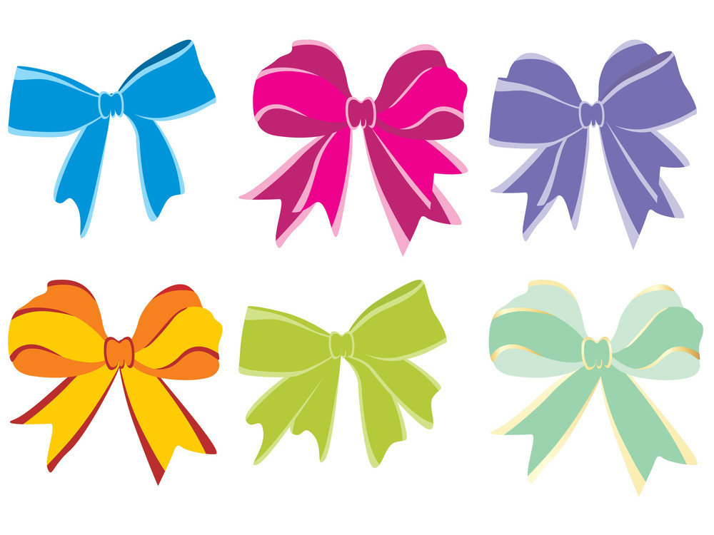 Background With Six Vector Bow